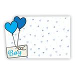 """It's a Boy!"" : Blue heart balloons, foiled sent"