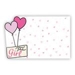 """It's a Girl!"" : Pink heart balloons w foil sent"