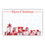 """""""Merry Christmas"""" : Red & Silver gifts"""