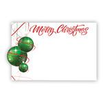 """MERRY CHRISTMAS"" CAPRI CARD, GREEN BULBS"