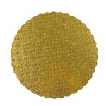 "Gold Scalloped Edge Cake Board 10"""""
