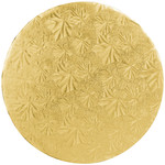 "Corrugated Gold Round Cake Boards 8"""" X 1/2"""""