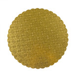 "Gold Scalloped Edge Cake Board 12"""""