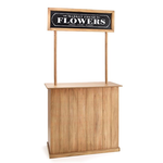 """73 1/2""""H X 37""""W X 19 1/2""""D FLOWER STAND BOOTH SEASONAL BOOTH WITH INTERCHANGABLE SIGNS"""