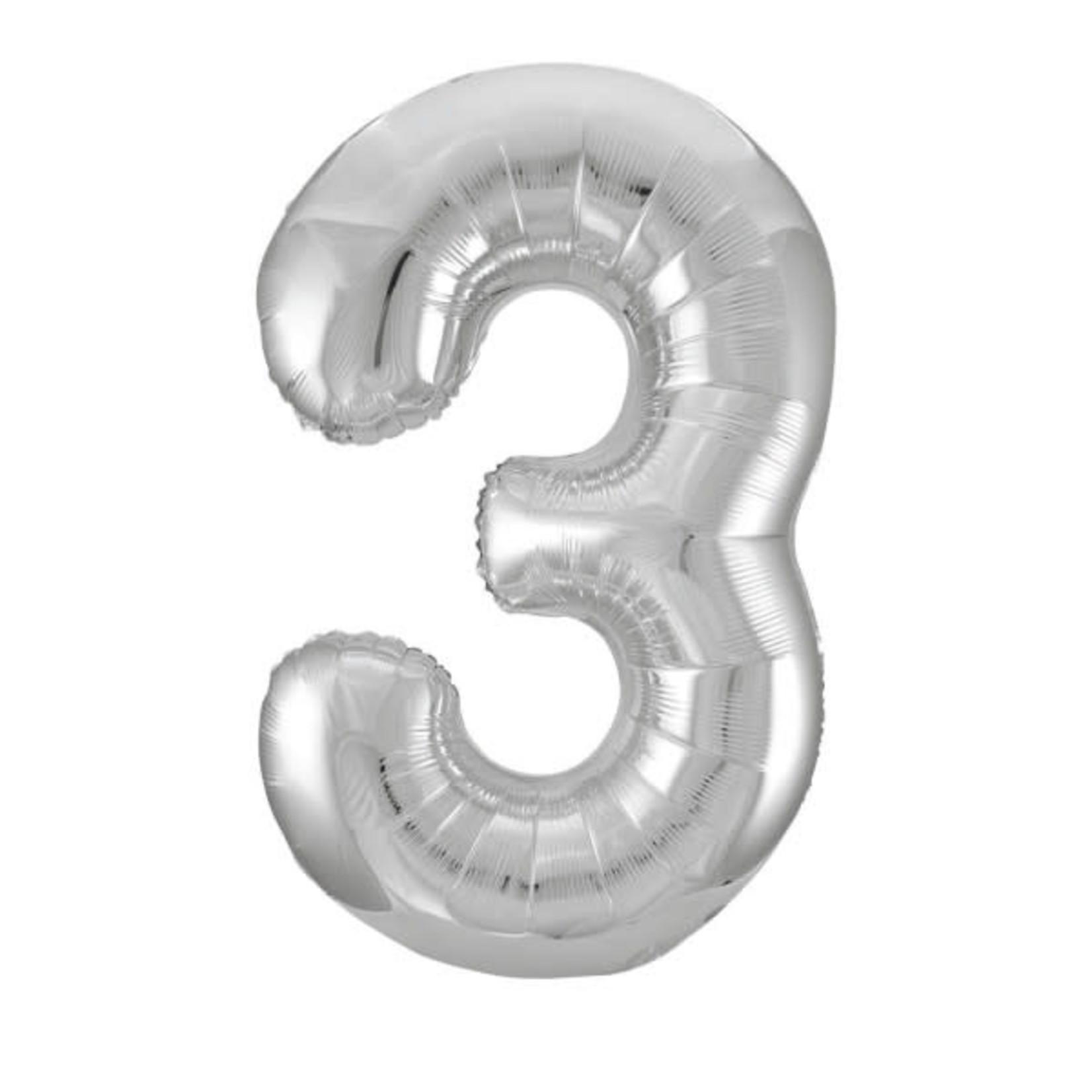 """34"""" PKG SILVER FOIL BLLN-3"""