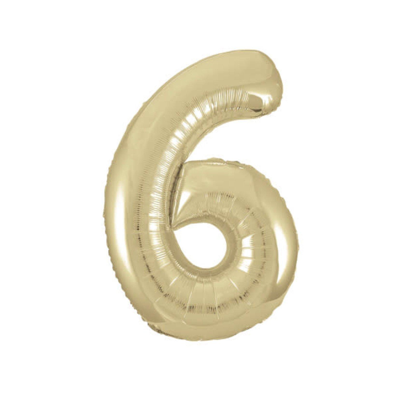 """34"""" PKG GOLD FOIL BLLN-6"""