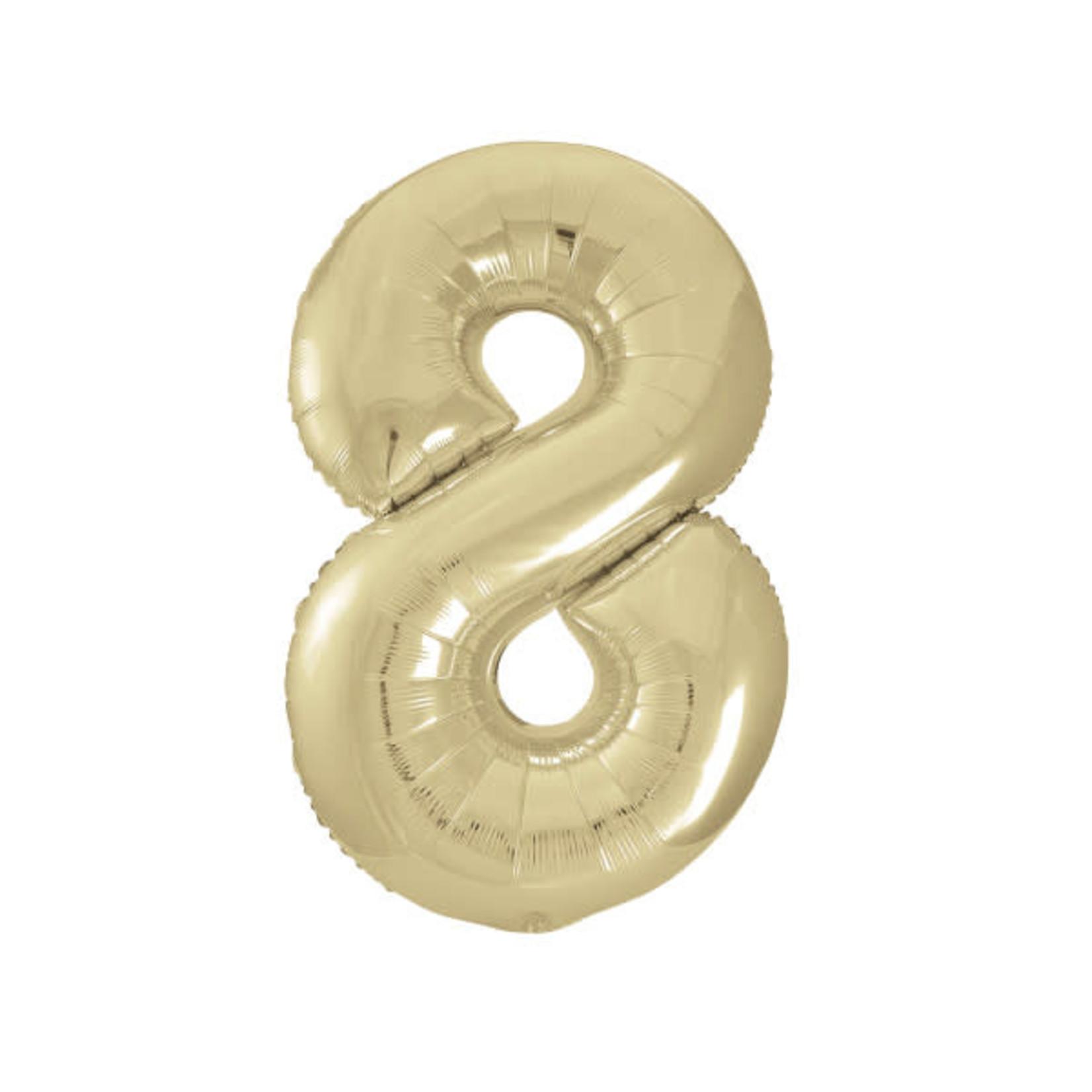 """34"""" PKG GOLD FOIL BLLN-8"""