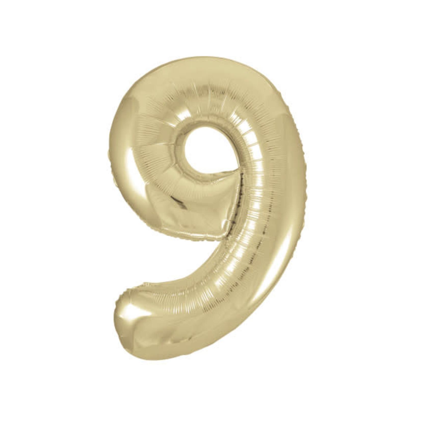 """34"""" PKG GOLD FOIL BLLN-9"""