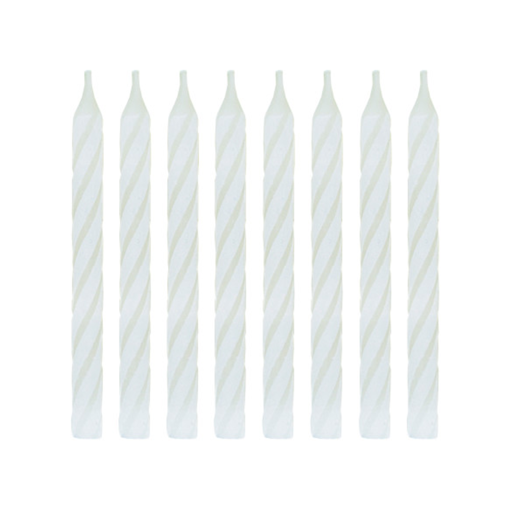24 SPIRAL BD CANDLE, WHITE