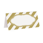 16 GOLD PLACE CARD