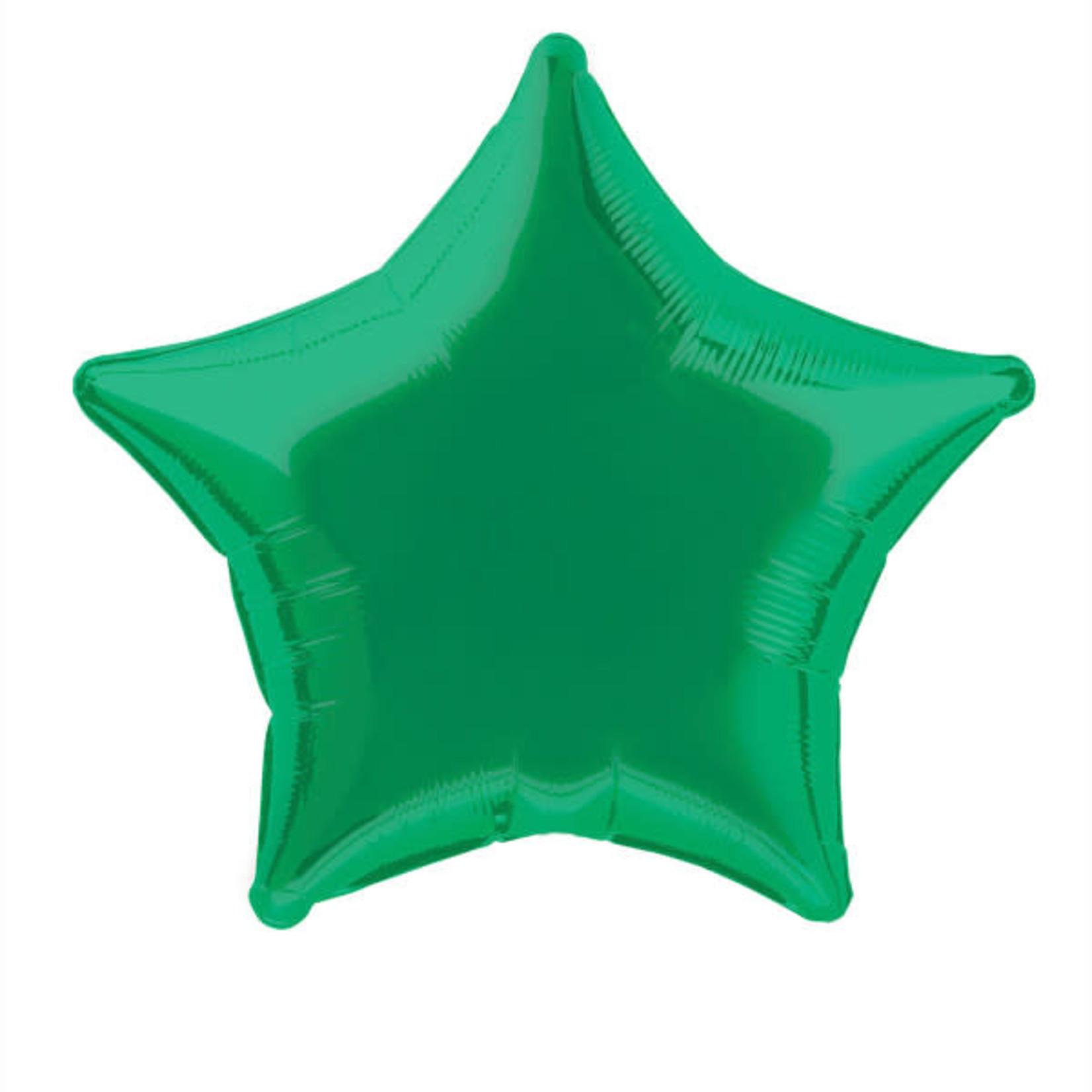 20'' GREEN STAR FOIL BALLOON