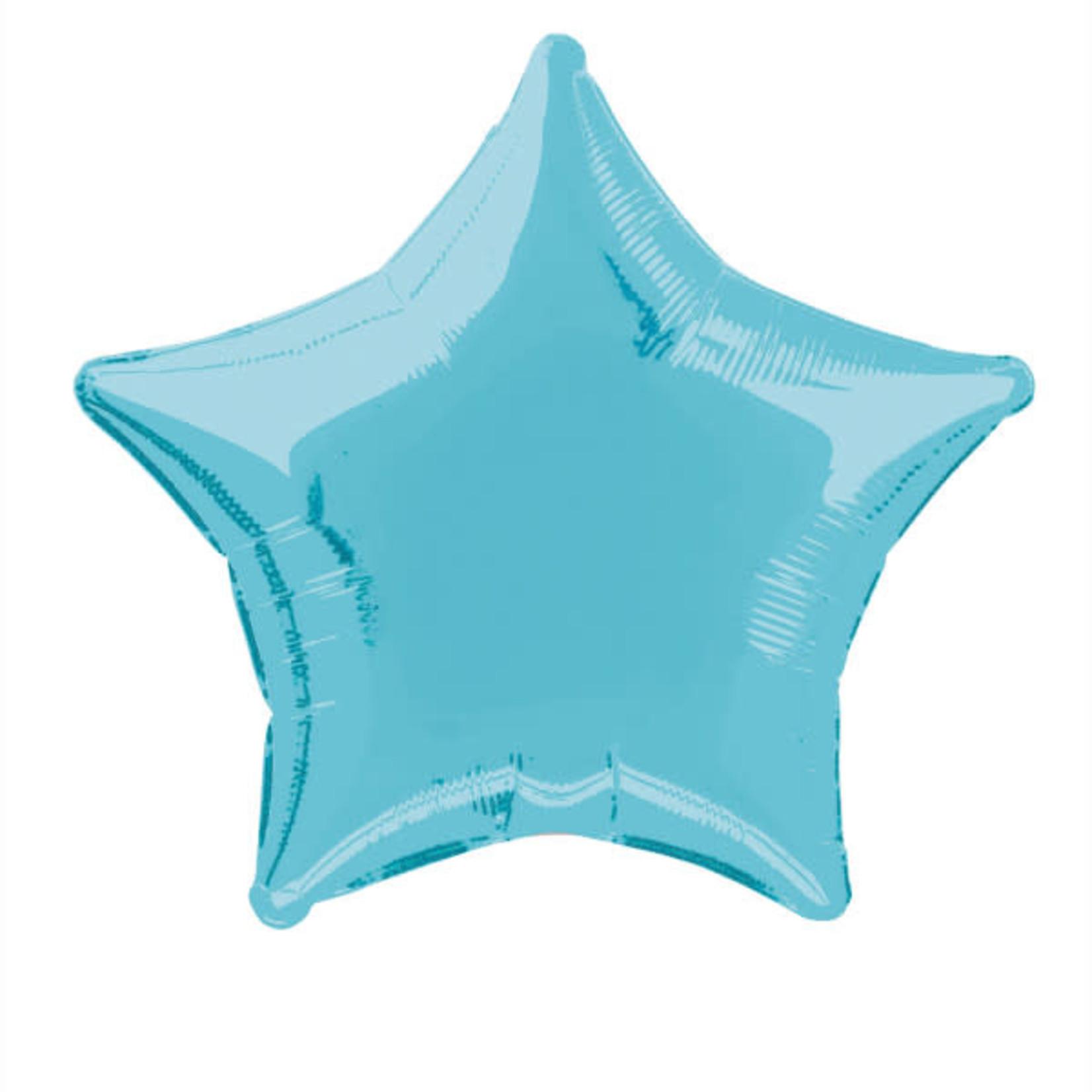 20'' BABY BLUE STAR SHAPED BALLOON