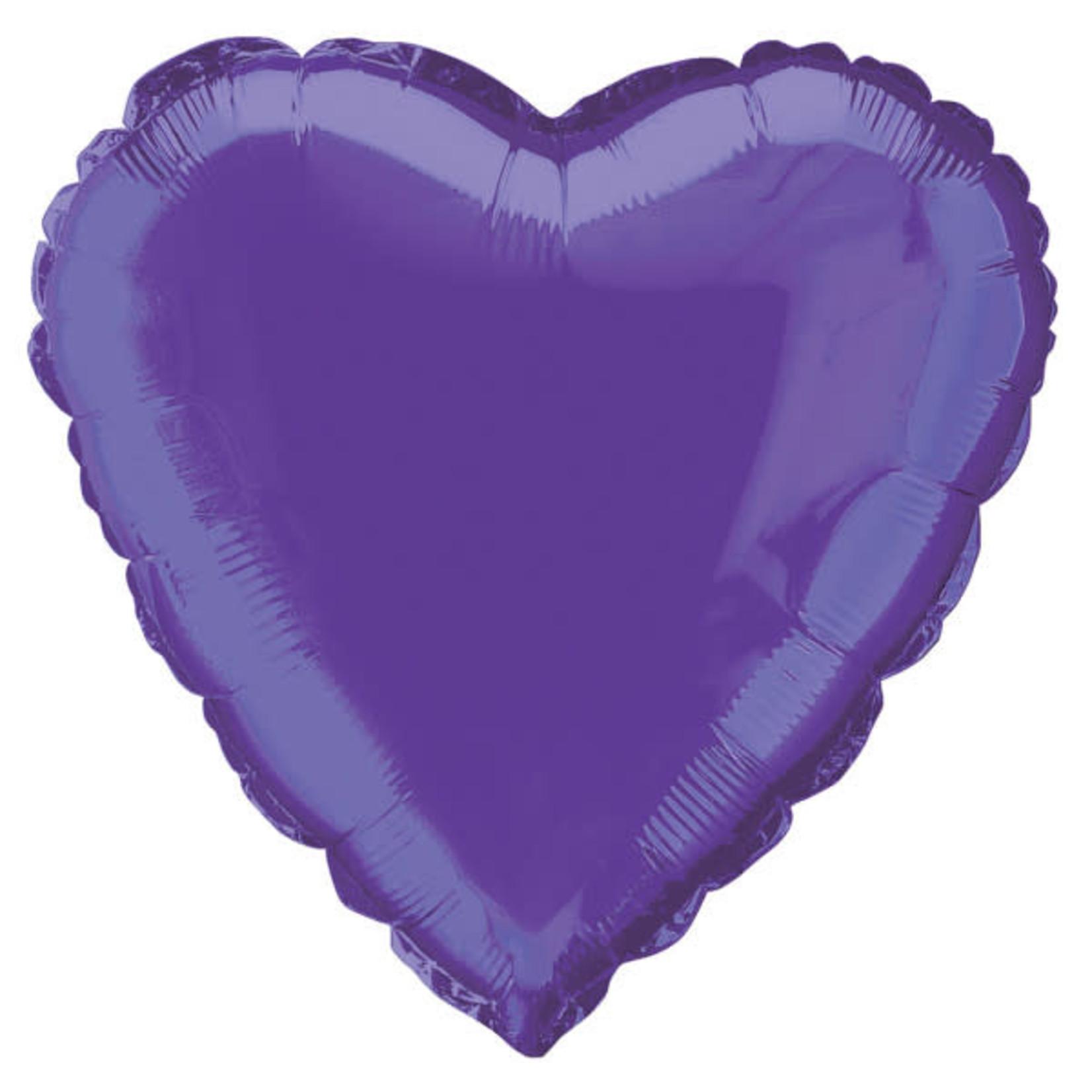 18'' PURPLE HEART FOIL BALLOON