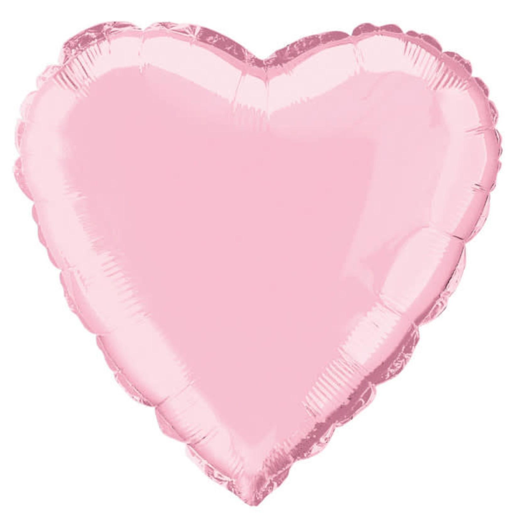 "18"""" Heart Foil Balloon Bulk - Pastel Pink"