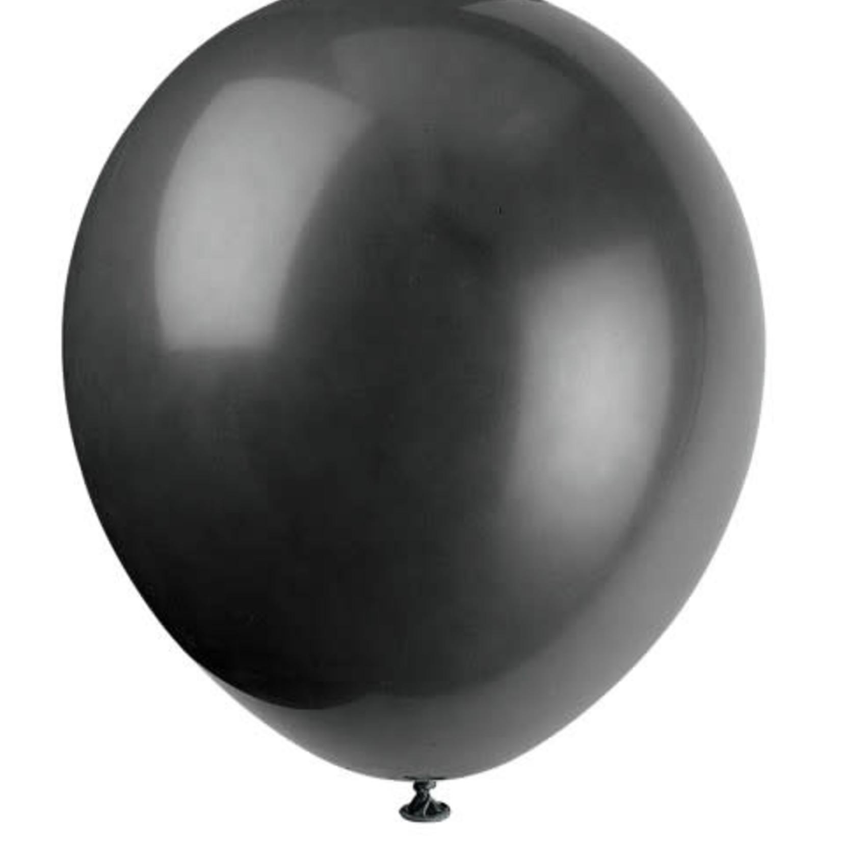 10 12'' JET BLACK BALLOONS