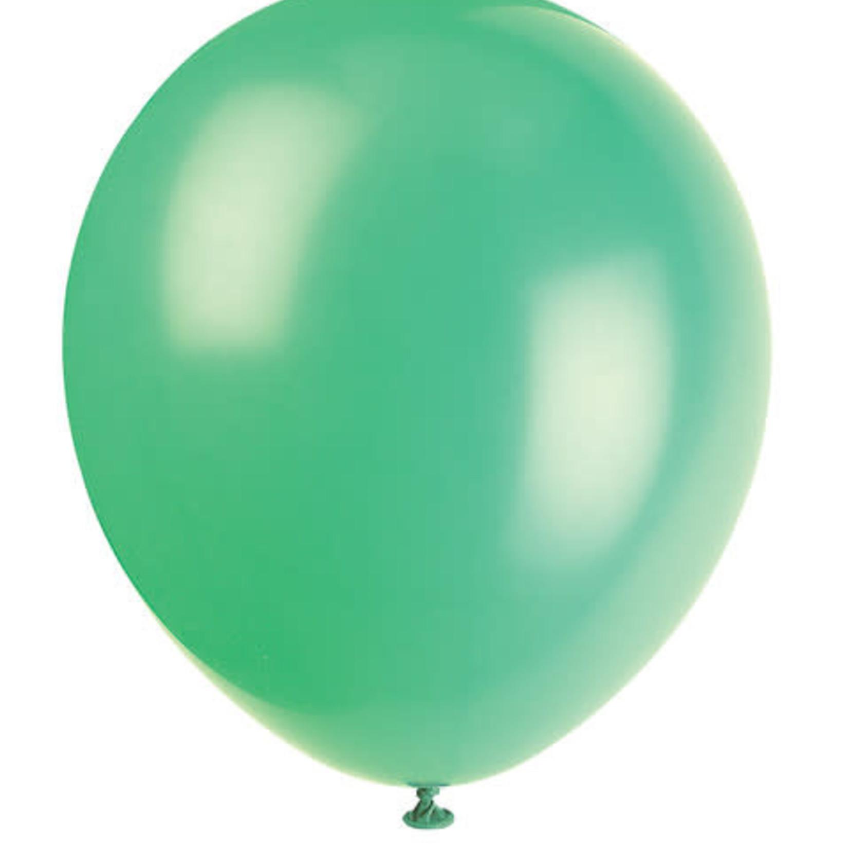 10 12'' EMERALD GREEN BALLOONS