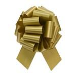 "GOLD PERFECT BOW, 7/8""ribbon, 4""dow, 18 loops"