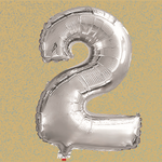 40'' #2 FOIL BALLOON SILVER