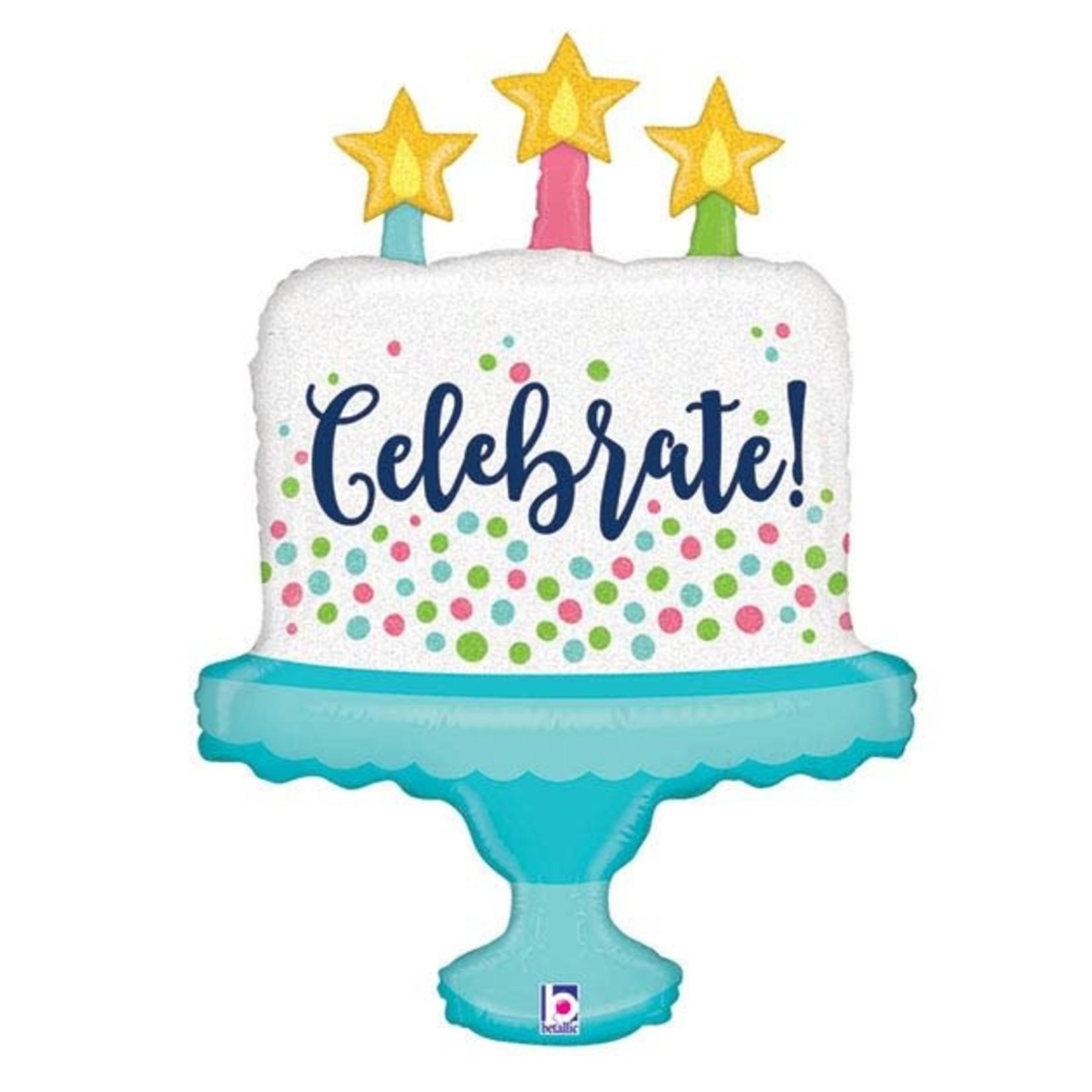 "33'' BALLOON ""CELEBRATE"" CAKE"