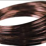 5MM X 29.5' FLAT ALUMINUM WIRE BROWN