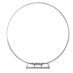"""84"""" SILVER ROUND METAL ARCH CIRCLE BACKDROP STAND"""