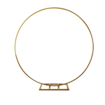 """84"""" GOLD ROUND METAL ARCH CIRCLE BACKDROP STAND"""