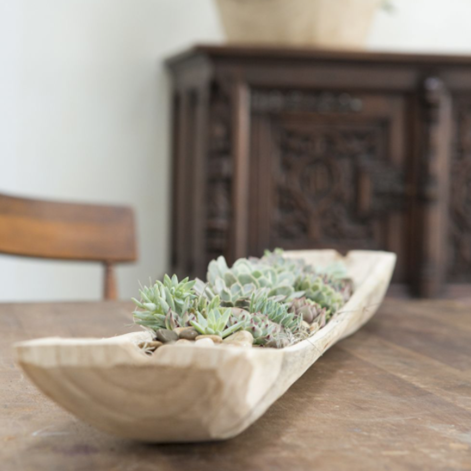 """3.25""""H X 35"""" X 6"""" FORTUNE COLLECTION WOOD TRAY"""