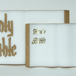 """Bible, 18x12x1-1/2"""""""" Gold Letters, Gold Edges, Shrink-Wrapped - White STYRO"""