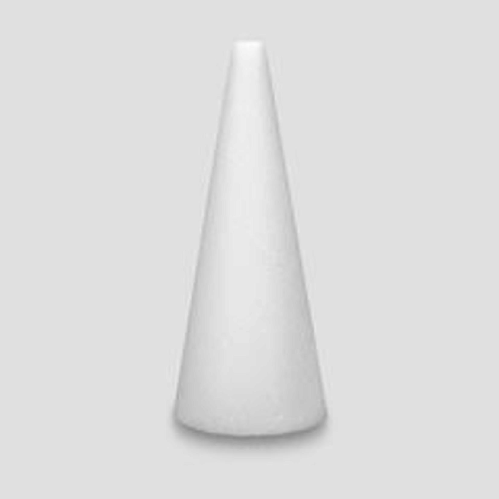 """15x4""""""""  White STYROFOAM Cone"""