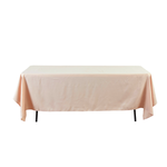 CHAMPAGNE RECTANGULAR POLYESTER TABLE COVER 60X126''