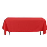 RED, RECTANGULAR TABLE COVER 60'' X 126''