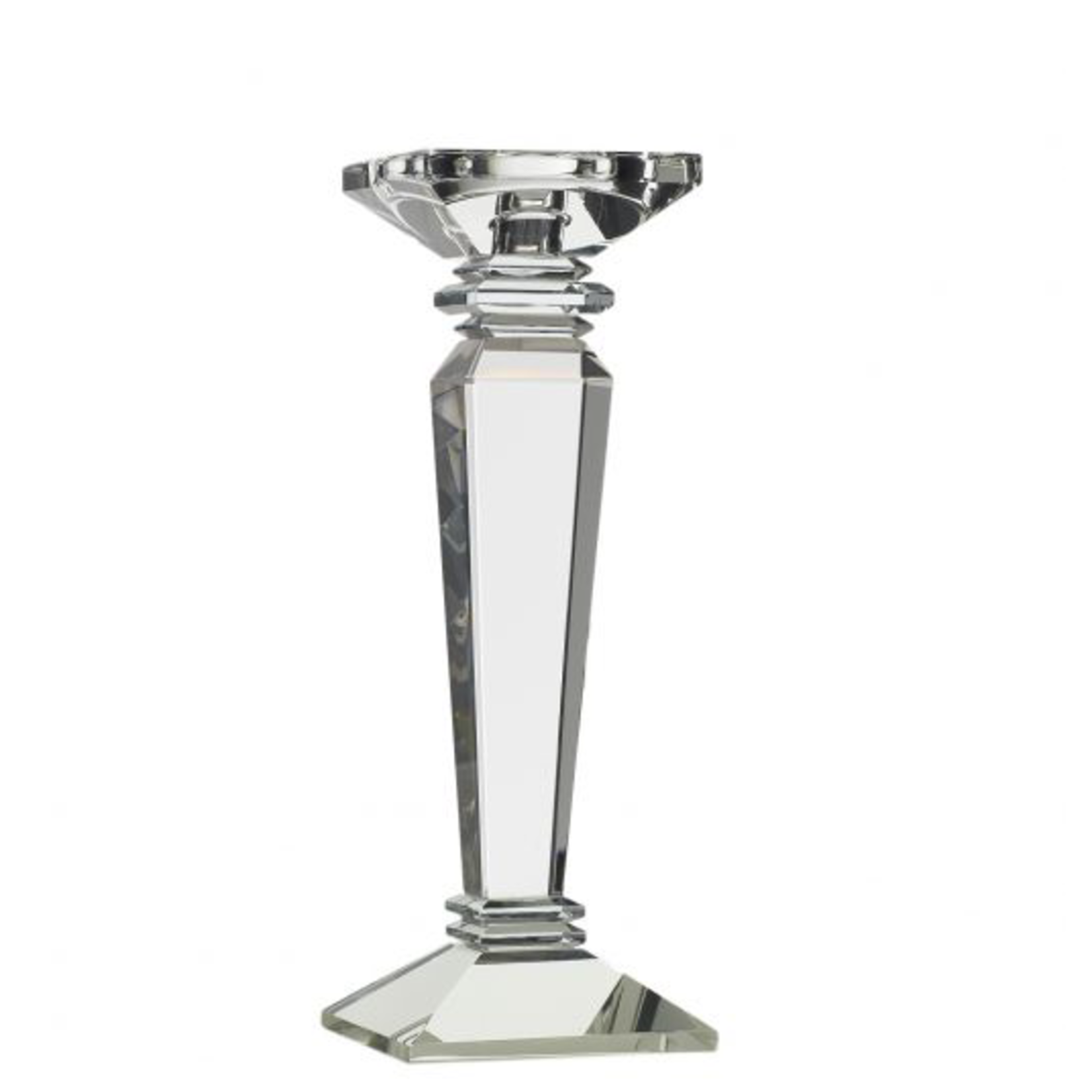 """10.75""""H X 4"""" CRYSTAL CANDLE STICK (AD)"""