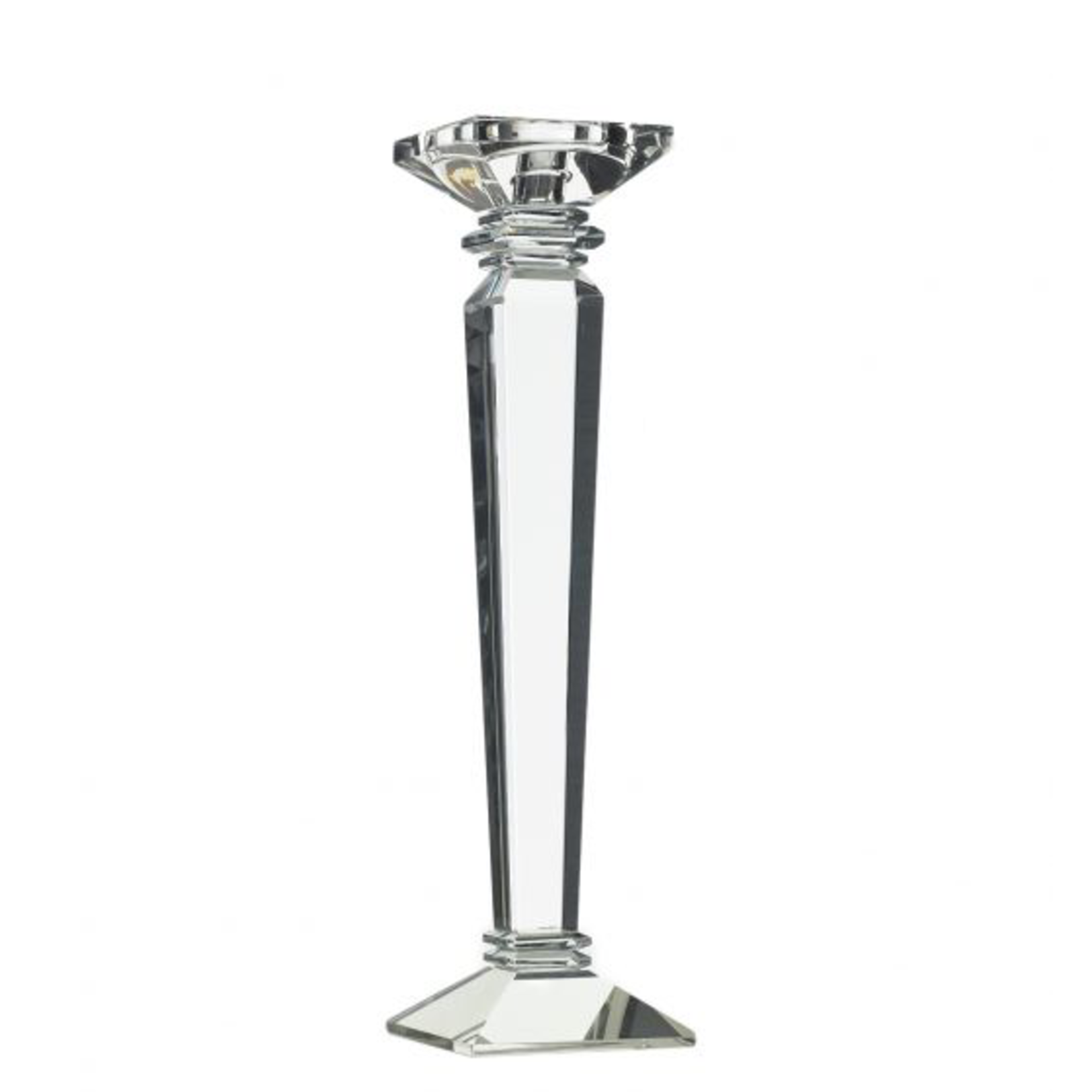 """14.75""""H X 4"""" CRYSTAL CANDLE STICK (AD)"""
