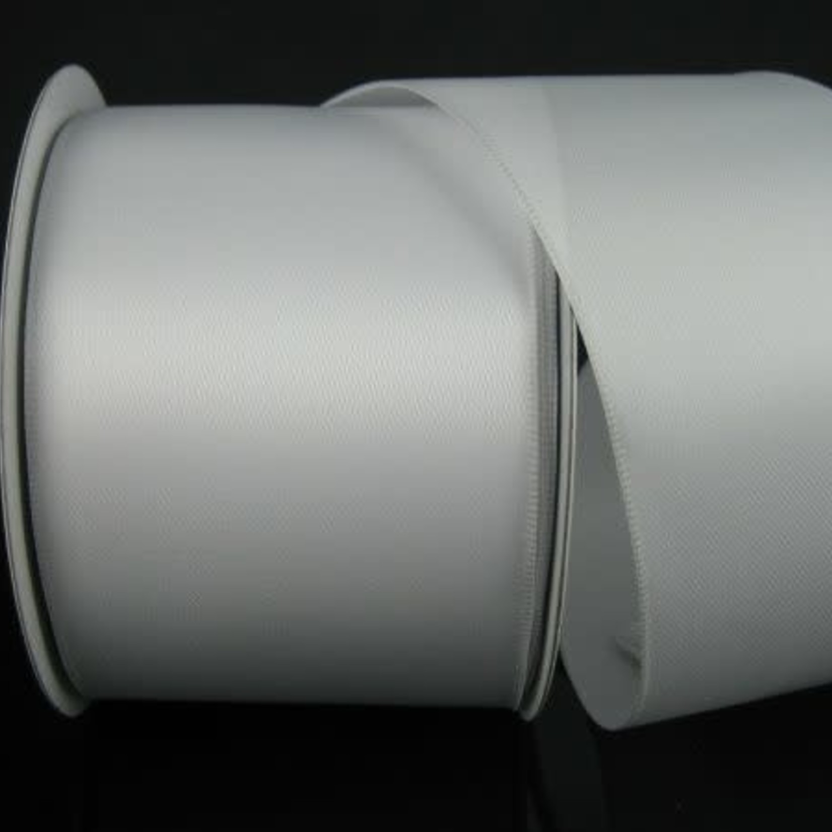 #40, 25 YDS DOUBLE FACE SATIN WHITE WIRED