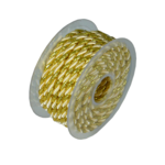 Rope 5.5mm x 10Y Ivory/ Gold