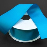"""SOLID GROSGRAIN NON WIRED EDGE 1.5"""""""" x 25 YD TURQUOISE"""