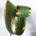 RIBBON LEAF ASPIDISTRA 4.25'' X 50YDS GOLD/GREEN