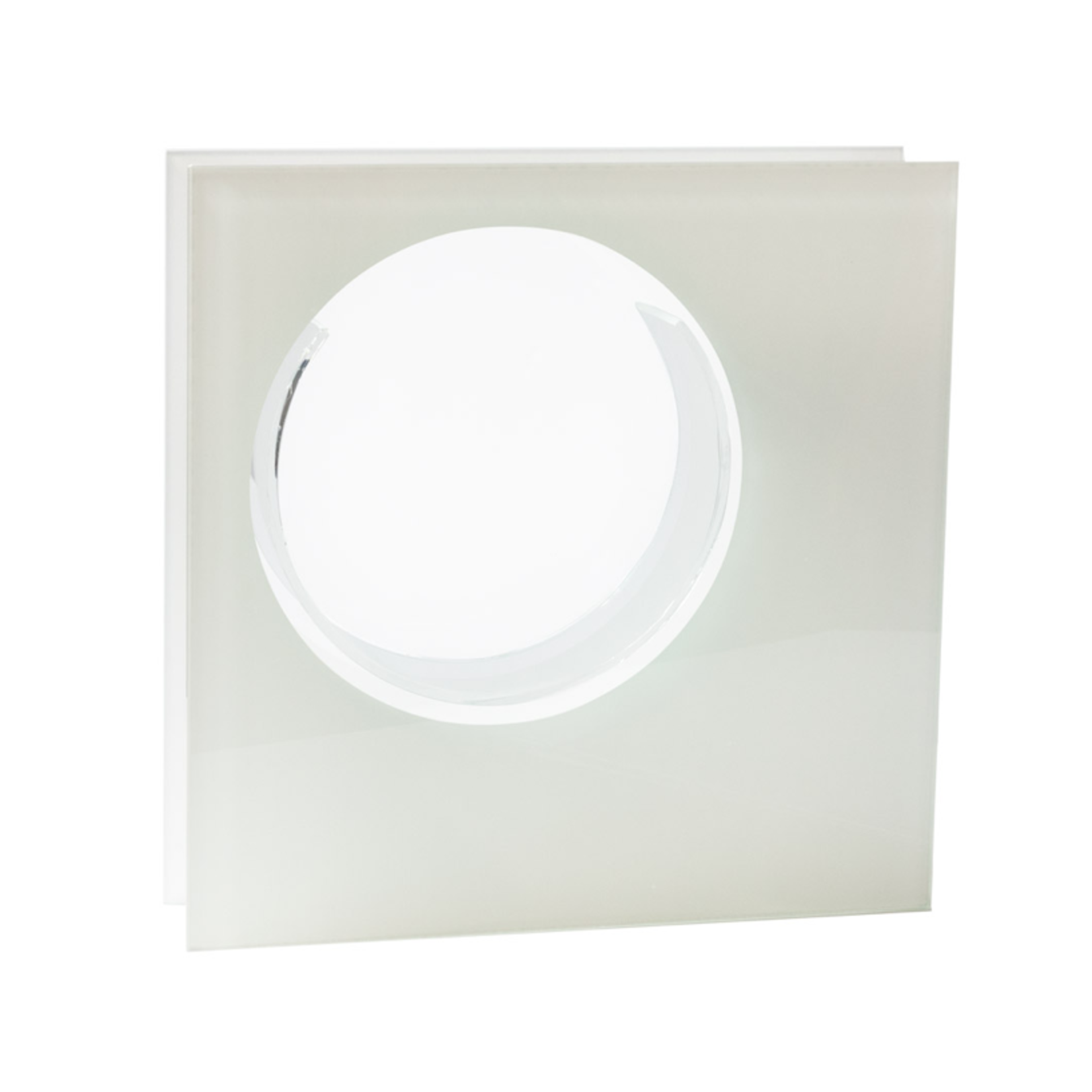 """10""""H X 10""""L X 2.5"""" SQUARE PLATED WITH ROUND GLASS"""