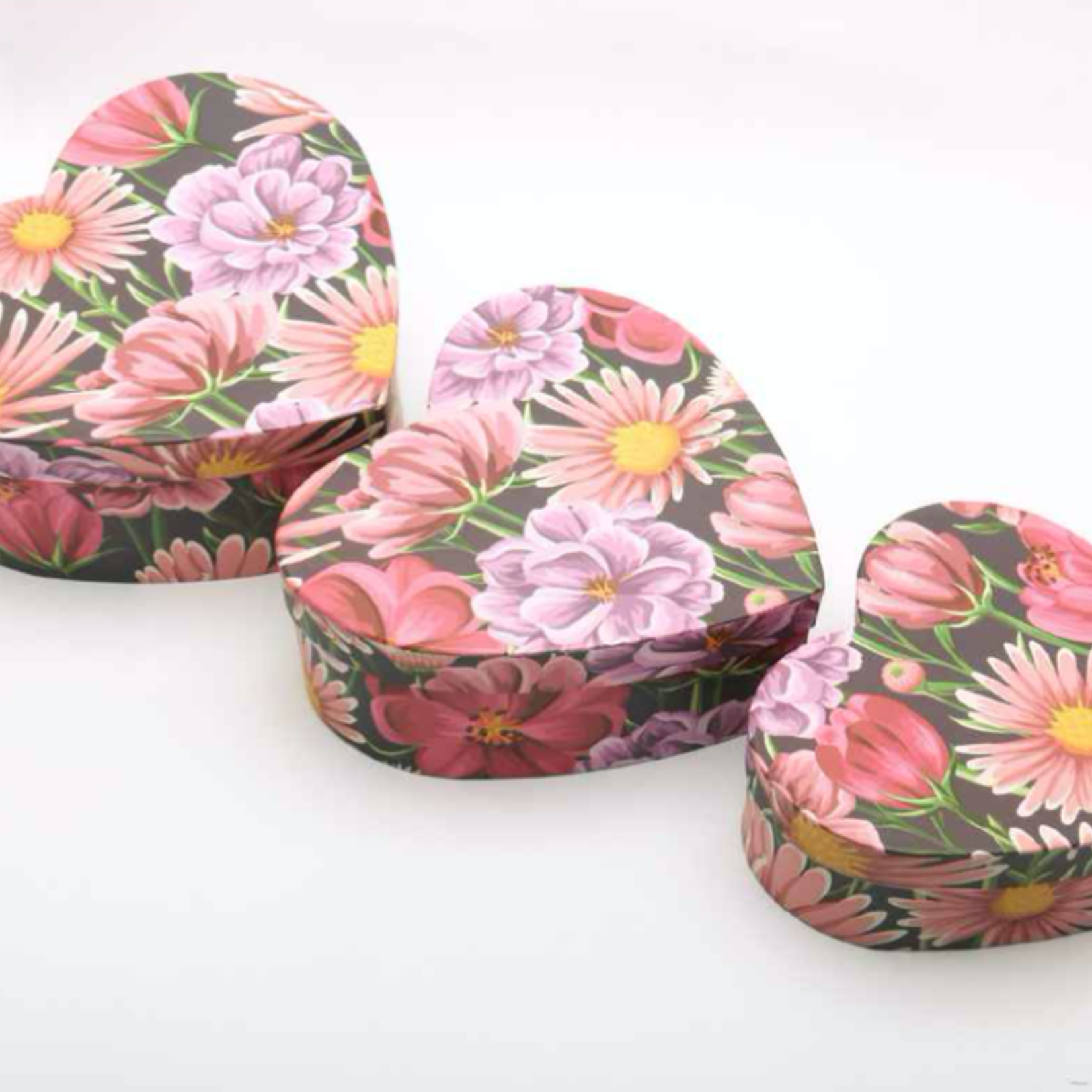 3 PIECE HEART BOX  only sold by the set