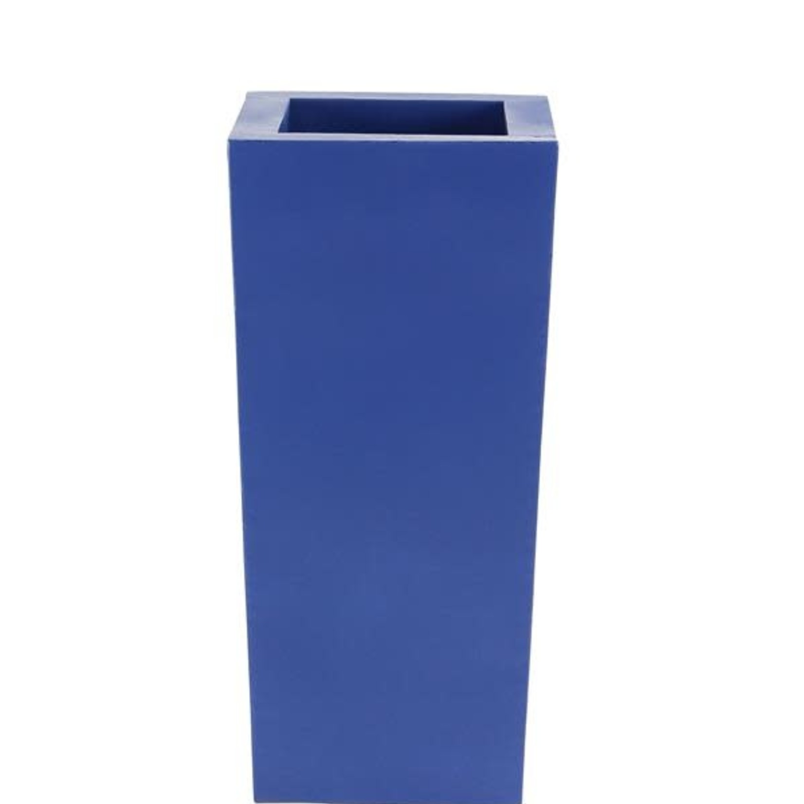 """30% off was $200 now $139.99 35""""H X 17"""" BLUE TAPER METAL PLANTERS"""