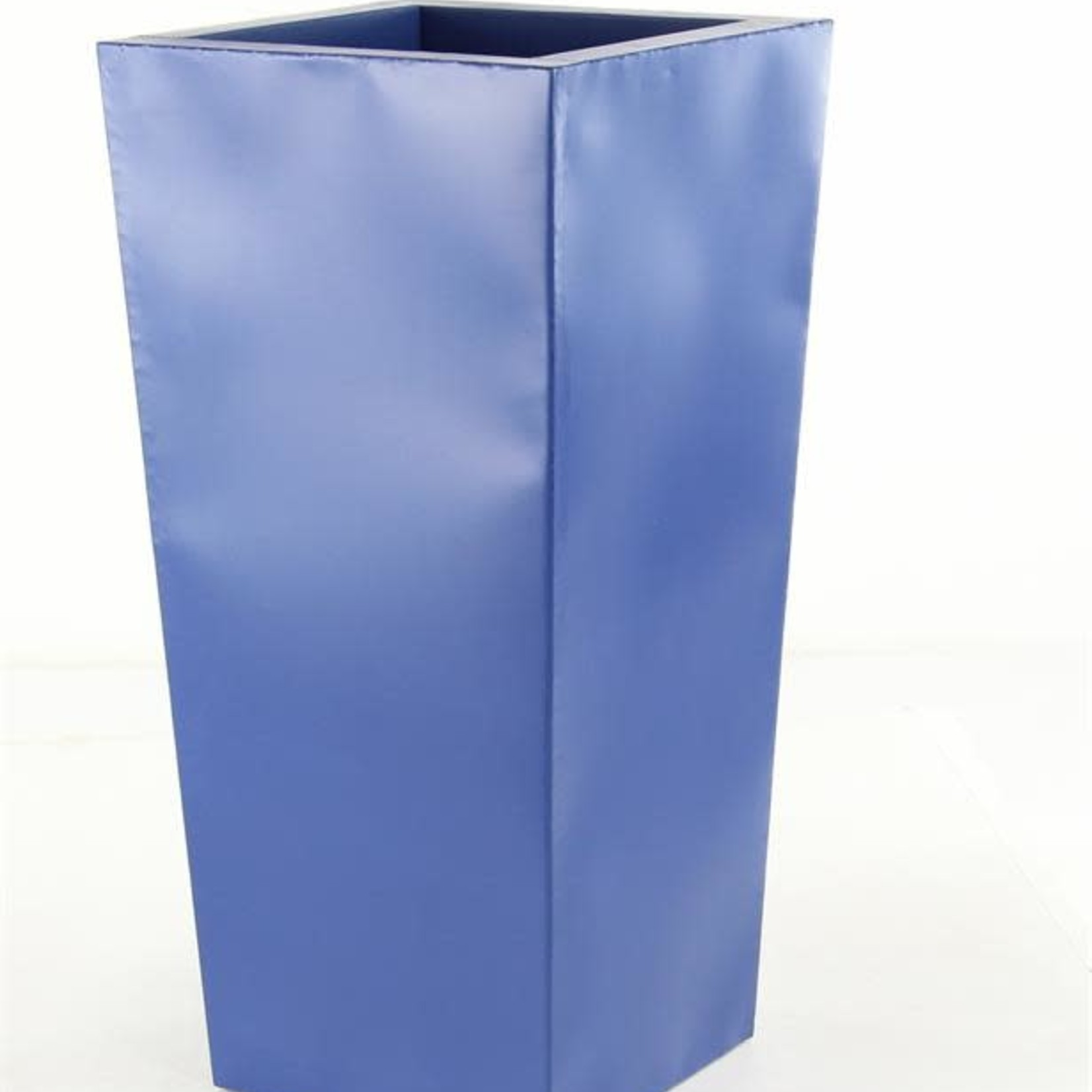 """30$ off was $150 now $104.99 25"""" X 12"""" BLUE TAPER METAL PLANTERS"""