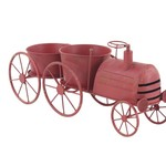 """30% off was $90 now $62.99 10""""H X 22"""" RED METAL TRUCK PLANTER"""