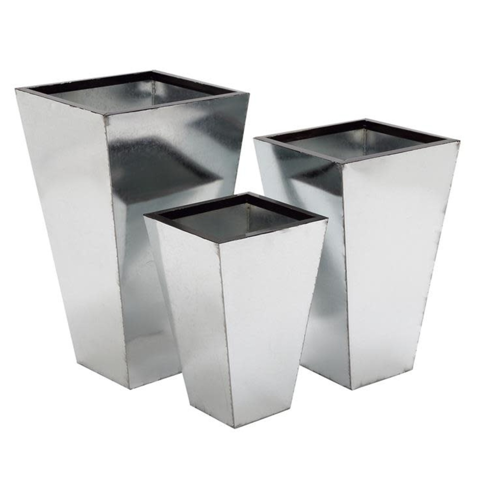 """26""""h x 15"""" SILVER METAL PLANT STAND"""