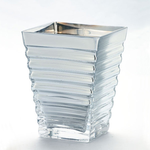 """50% off was $14 now $7 L:4.5"""""""" W:4.5"""""""" H:6.5"""""""" SILVER VASE"""
