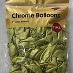 72 CT LIGHT GREEN 5'' CHROME BALLOON