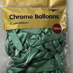 72 CT TURQUOISE 5'' CHROME BALLOON