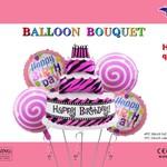 PINK CAKE BALLLOON BOUQUET