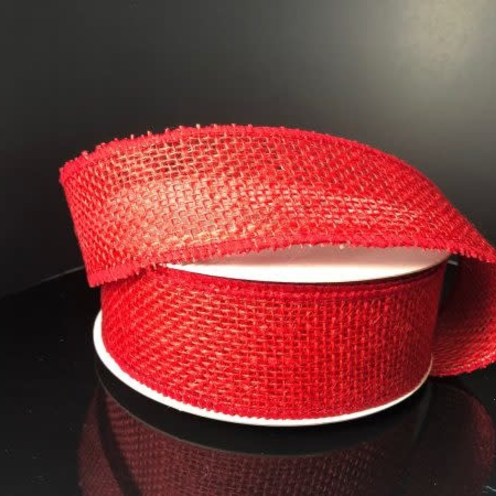 1.5'' X 10 YDS RED BURLAP