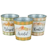 """4.5'' ROUND """"THANKFUL"""" METAL CONTAINERS"""