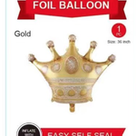 36''GOLD  BALLOON CROWN